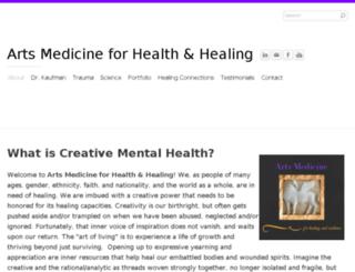 artsmedicineforhealthandhealing.com screenshot