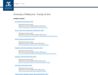 artsunimelb.smartygrants.com.au screenshot