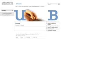 artsweb.bham.ac.uk screenshot