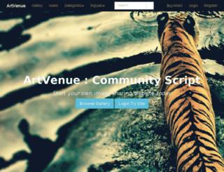artvenue-abhi003.rhcloud.com screenshot