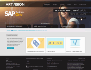 artvision.pt screenshot