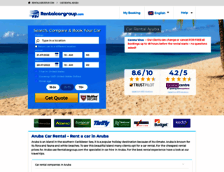 aruba.rentalcargroup.com screenshot