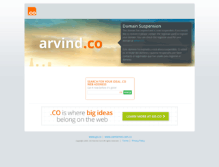 arvind.co screenshot