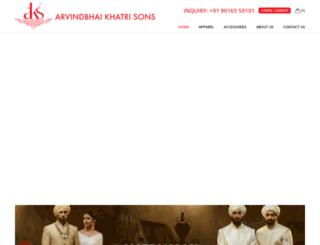 arvindbhaikhatrisons.com screenshot