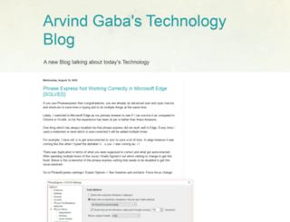 arvindgaba.com screenshot