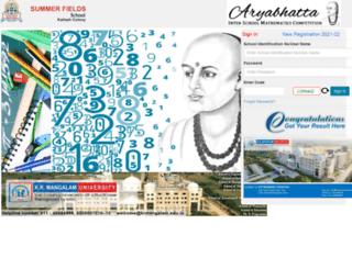 aryabhatta.summerfields.co.in screenshot
