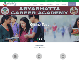 aryabhattaacademy.co.in screenshot