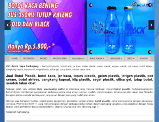 arytapackaging.com screenshot