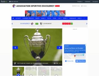 as-avoudrey.footeo.com screenshot