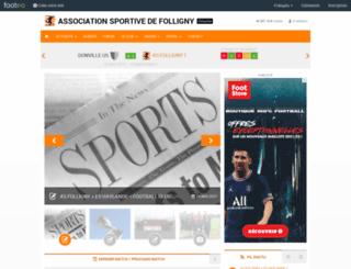 as-folligny.footeo.com screenshot