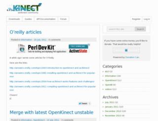 as3kinect.org screenshot