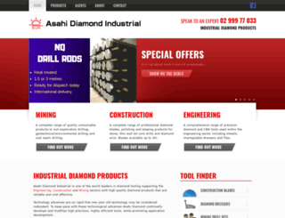 asahi-diamond.com.au screenshot
