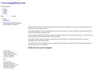 asampleletter.com screenshot