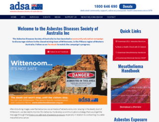 asbestosdiseases.org.au screenshot