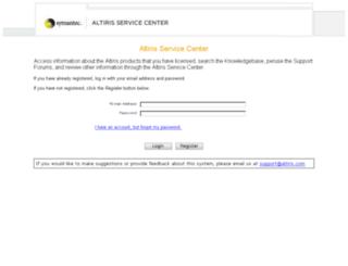 asc.altiris.com screenshot