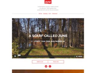 ascarfcalledjune.com screenshot