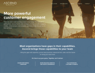 ascend-marketing.com screenshot