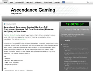 ascendancegaming.blogspot.com screenshot
