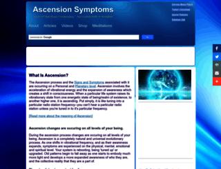 ascensionsymptoms.com screenshot