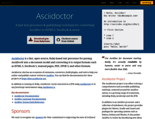 asciidoctor.org screenshot