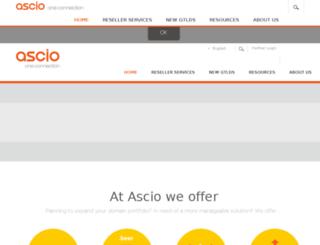 ascio.net screenshot