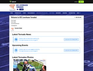 ascleverkusentornados.teamapp.com screenshot