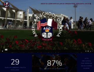 asd.edu.qa screenshot
