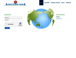 aseanregionalforum.asean.org screenshot