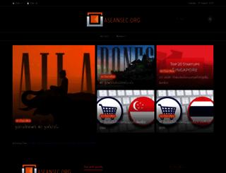 aseansec.org screenshot