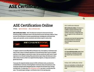 asecertificationonline.wordpress.com screenshot