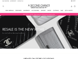 asecondchanceresale.com screenshot