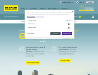 asendia.co.uk screenshot