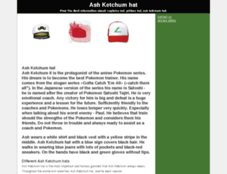 ash-ketchum-hat.com screenshot