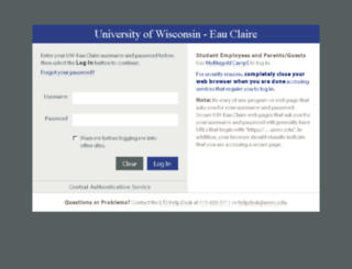 ash.uwec.edu screenshot