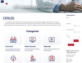 ashacademy.org screenshot