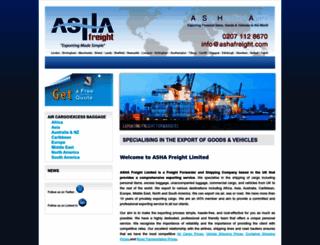 ashafreight.com screenshot