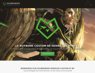 ashbringer.fr screenshot