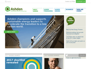 ashdenawards.org screenshot