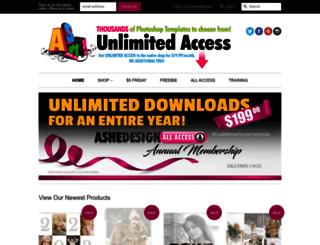 ashedesign.com screenshot