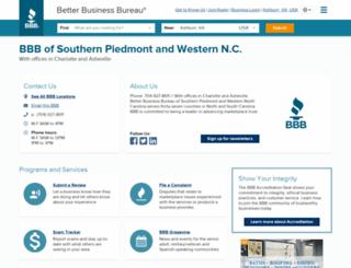 asheville.bbb.org screenshot