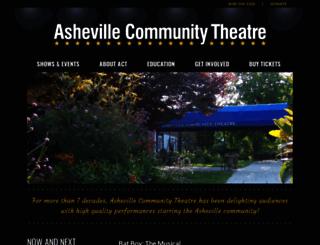 ashevilletheatre.org screenshot