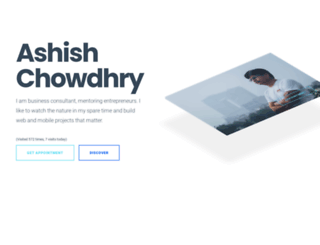 ashishchowdhury.com screenshot