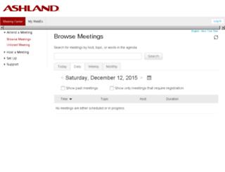 ashland.webex.com screenshot