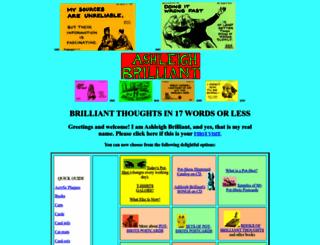 ashleighbrilliant.com screenshot