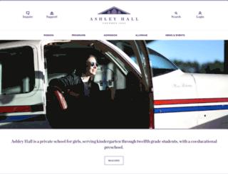 ashleyhall.org screenshot