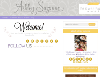ashleysuzanne.com screenshot