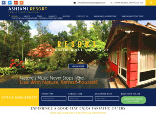 ashtamiresort.com screenshot