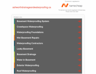 ashworthdrainageandwaterproofing.ca screenshot