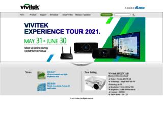 asia.vivitek.com.tw screenshot