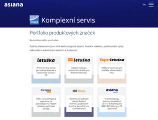 asiana.cz screenshot